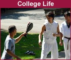 Martial arts demonstration in Sunken Garden
